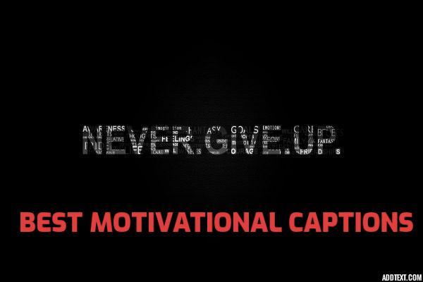 Best Motivational Captions