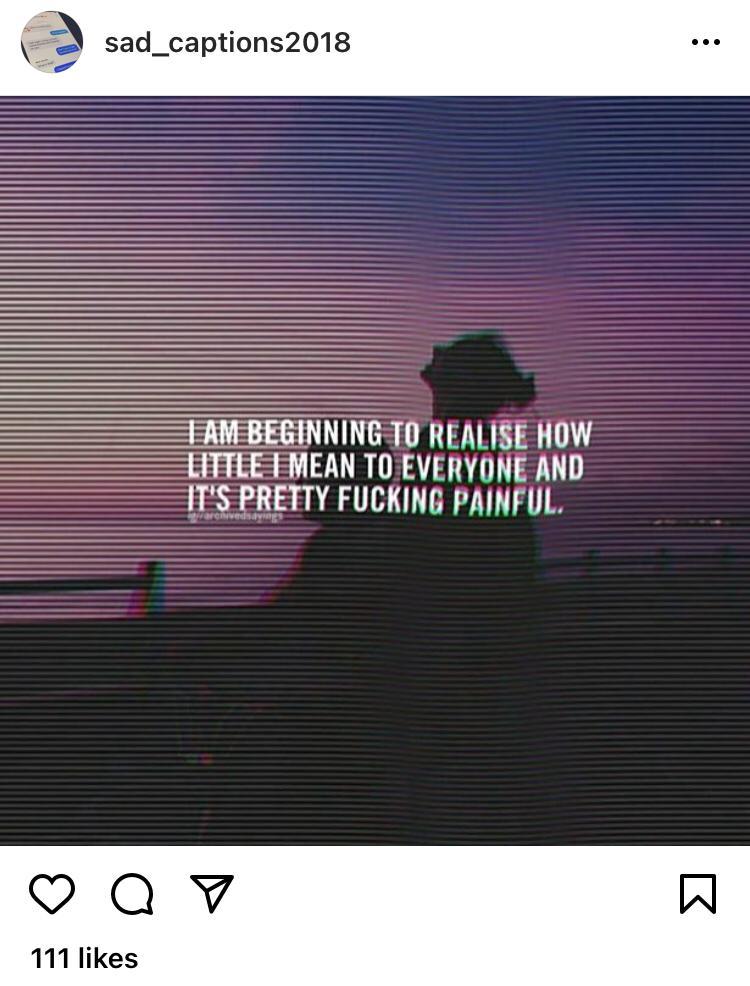 Depressed Instagram Captions